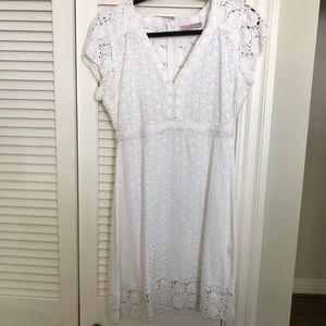 Calypso St. Barth white crochet detailed dress